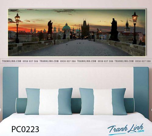 Bo tranh Canvas treo tuong trang tri phong khach phong canh PC0223