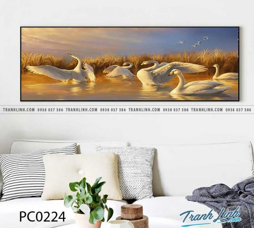 Bo tranh Canvas treo tuong trang tri phong khach phong canh PC0224