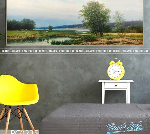 Bo tranh Canvas treo tuong trang tri phong khach phong canh PC0225