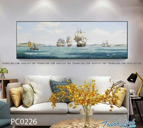 Bo tranh Canvas treo tuong trang tri phong khach phong canh PC0226