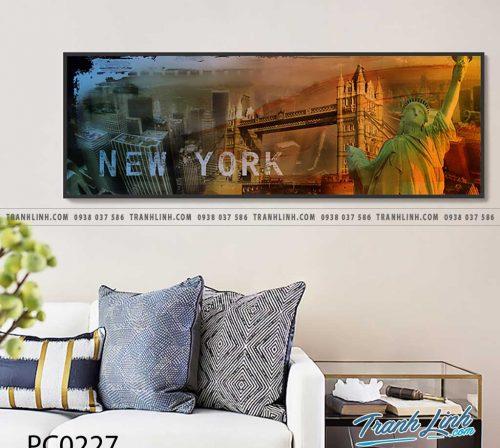 Bo tranh Canvas treo tuong trang tri phong khach phong canh PC0227