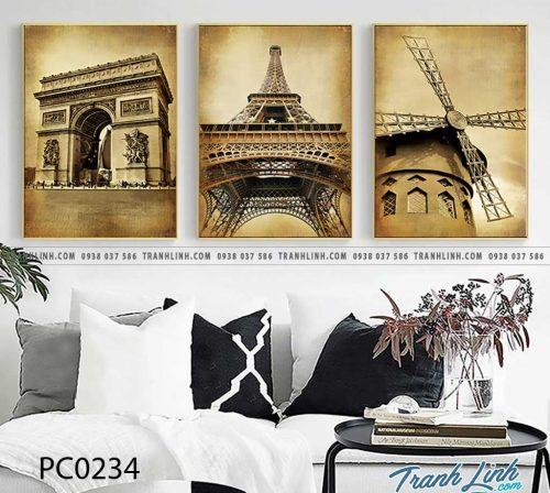 Bo tranh Canvas treo tuong trang tri phong khach phong canh PC0234