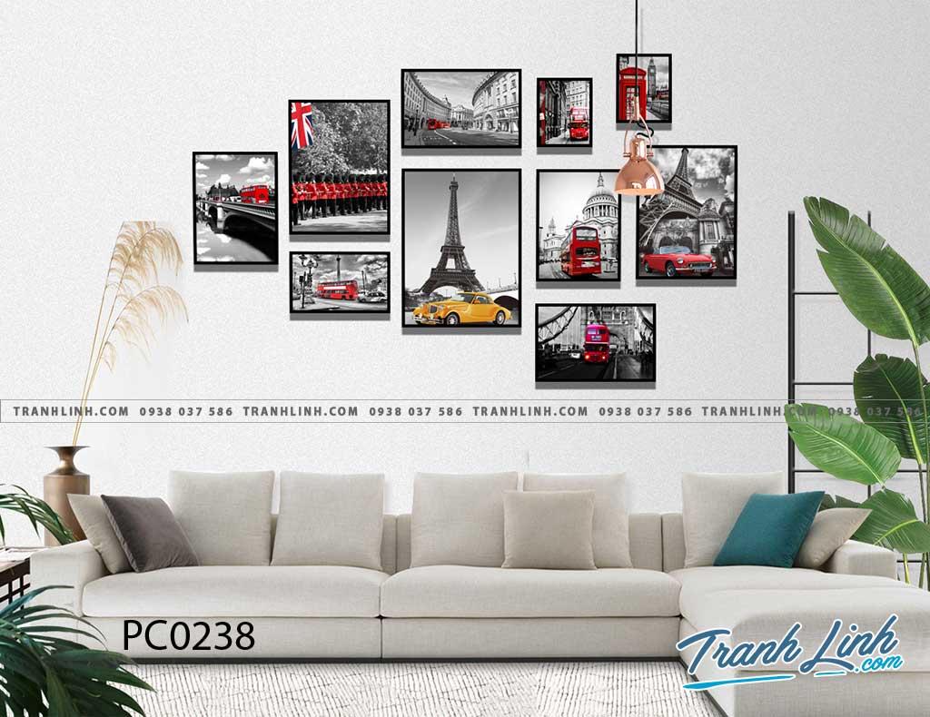 Bo tranh Canvas treo tuong trang tri phong khach phong canh PC0238