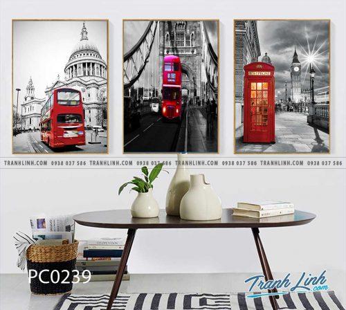 Bo tranh Canvas treo tuong trang tri phong khach phong canh PC0239
