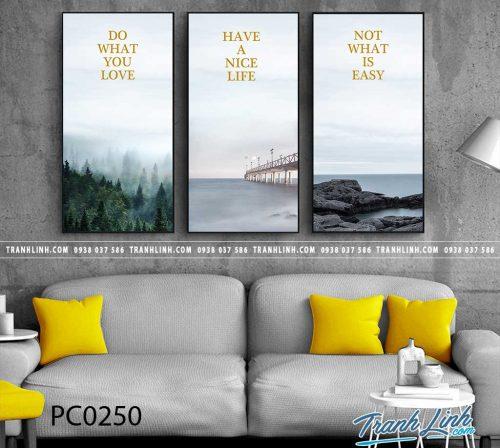 Bo tranh Canvas treo tuong trang tri phong khach phong canh PC0250