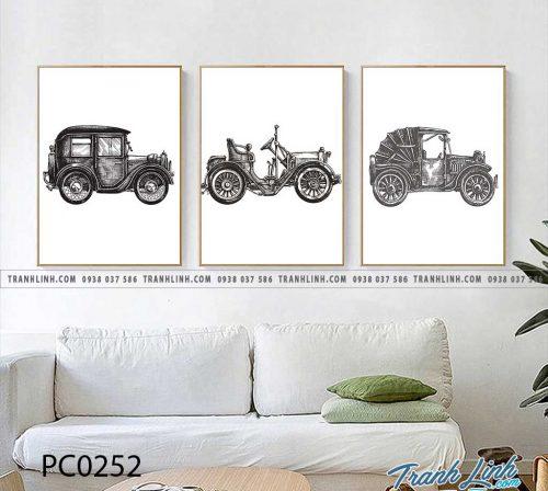 Bo tranh Canvas treo tuong trang tri phong khach phong canh PC0252