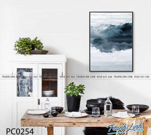 Bo tranh Canvas treo tuong trang tri phong khach phong canh PC0254