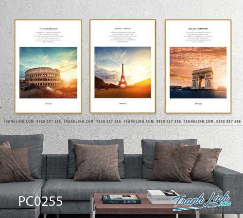 Bo tranh Canvas treo tuong trang tri phong khach phong canh PC0255