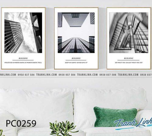 Bo tranh Canvas treo tuong trang tri phong khach phong canh PC0259