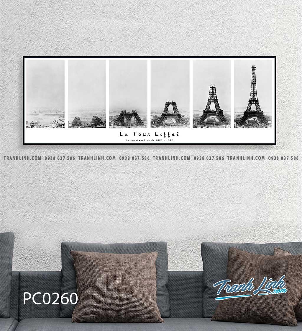 Bo tranh Canvas treo tuong trang tri phong khach phong canh PC0260
