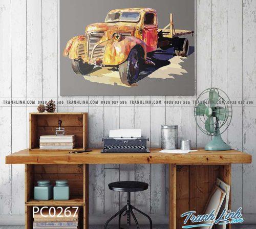 Bo tranh Canvas treo tuong trang tri phong khach phong canh PC0267