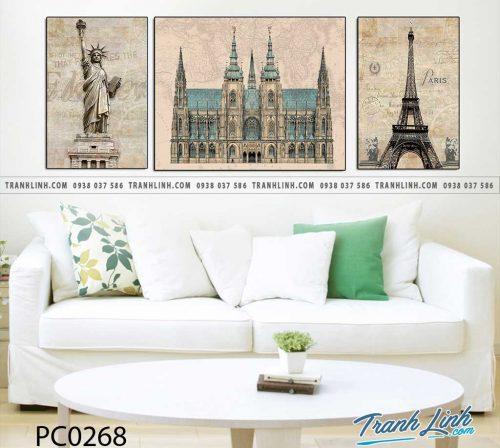 Bo tranh Canvas treo tuong trang tri phong khach phong canh PC0268