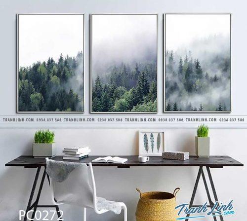 Bo tranh Canvas treo tuong trang tri phong khach phong canh PC0272