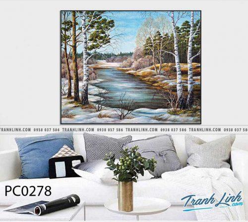 Bo tranh Canvas treo tuong trang tri phong khach phong canh PC0278