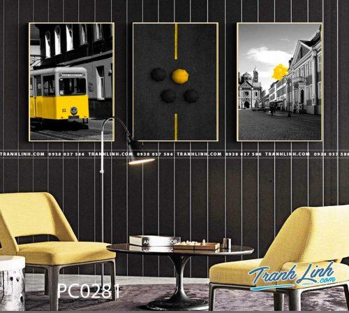 Bo tranh Canvas treo tuong trang tri phong khach phong canh PC0281