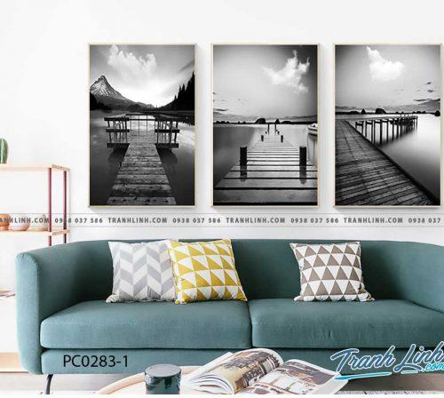 Bo tranh Canvas treo tuong trang tri phong khach phong canh PC0283 1