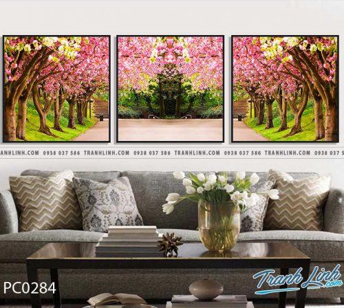 Bo tranh Canvas treo tuong trang tri phong khach phong canh PC0284
