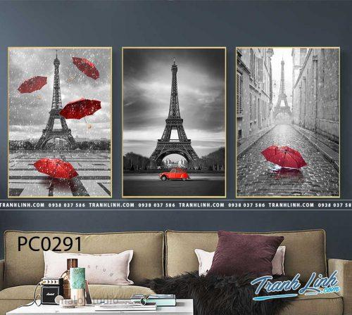Bo tranh Canvas treo tuong trang tri phong khach phong canh PC0291