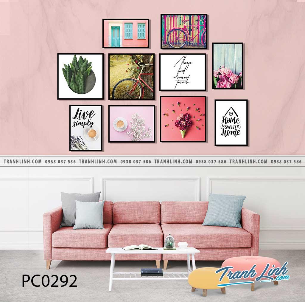Bo tranh Canvas treo tuong trang tri phong khach phong canh PC0292