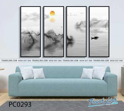 Bo tranh Canvas treo tuong trang tri phong khach phong canh PC0293