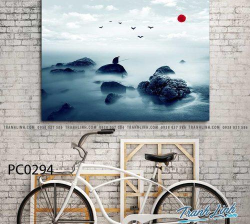 Bo tranh Canvas treo tuong trang tri phong khach phong canh PC0294
