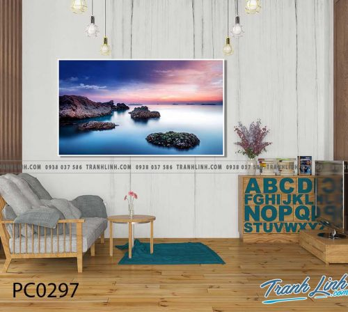 Bo tranh Canvas treo tuong trang tri phong khach phong canh PC0297