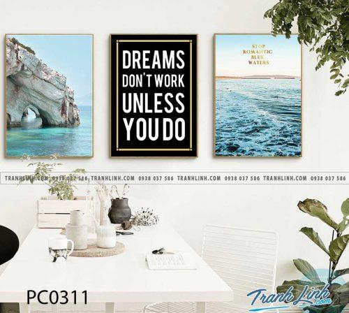 Bo tranh Canvas treo tuong trang tri phong khach phong canh PC0311