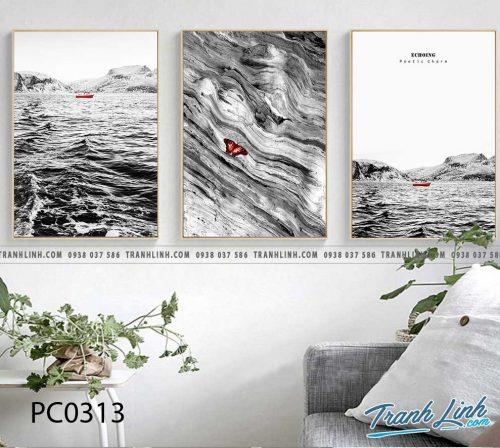 Bo tranh Canvas treo tuong trang tri phong khach phong canh PC0313