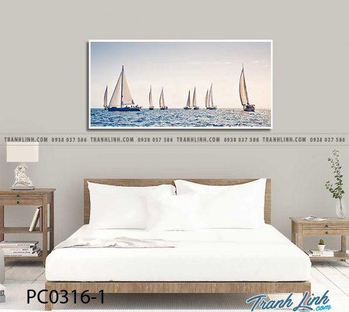 Bo tranh Canvas treo tuong trang tri phong khach phong canh PC0316 1