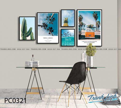 Bo tranh Canvas treo tuong trang tri phong khach phong canh PC0321