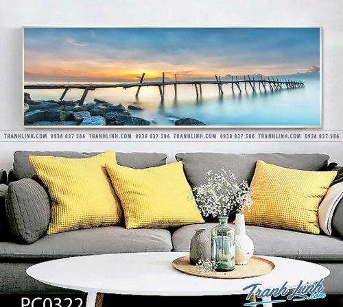 Bo tranh Canvas treo tuong trang tri phong khach phong canh PC0322