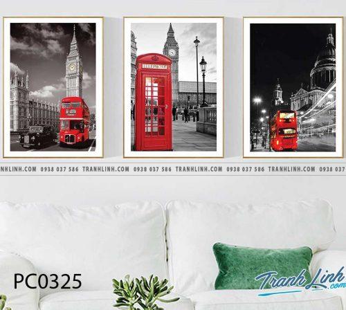 Bo tranh Canvas treo tuong trang tri phong khach phong canh PC0325