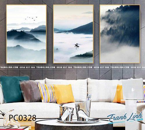 Bo tranh Canvas treo tuong trang tri phong khach phong canh PC0328