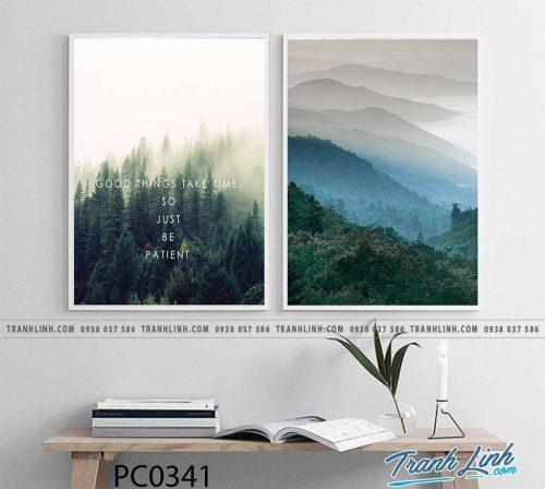 Bo tranh Canvas treo tuong trang tri phong khach phong canh PC0341