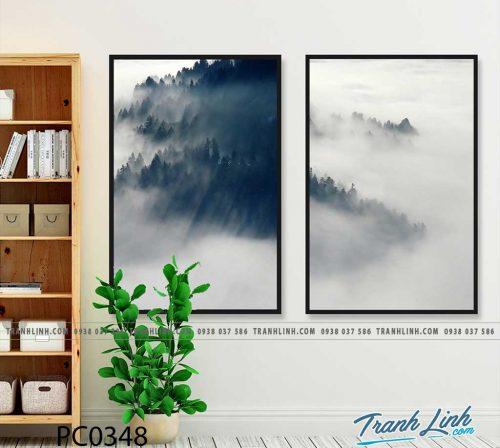 Bo tranh Canvas treo tuong trang tri phong khach phong canh PC0348