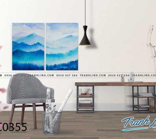 Bo tranh Canvas treo tuong trang tri phong khach phong canh PC0355