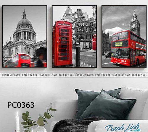 Bo tranh Canvas treo tuong trang tri phong khach phong canh PC0363