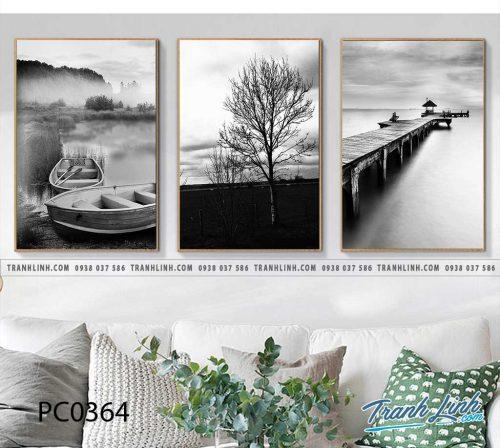 Bo tranh Canvas treo tuong trang tri phong khach phong canh PC0364