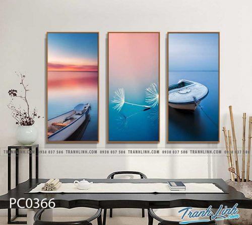 Bo tranh Canvas treo tuong trang tri phong khach phong canh PC0366