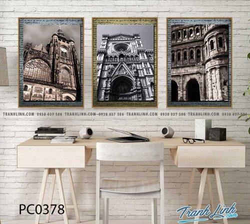 Bo tranh Canvas treo tuong trang tri phong khach phong canh PC0378
