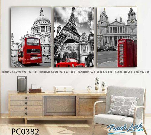 Bo tranh Canvas treo tuong trang tri phong khach phong canh PC0382
