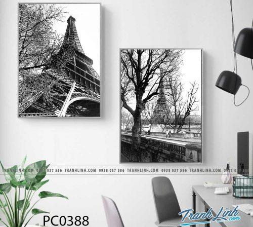 Bo tranh Canvas treo tuong trang tri phong khach phong canh PC0388
