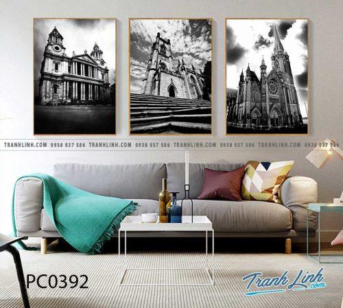 Bo tranh Canvas treo tuong trang tri phong khach phong canh PC0392