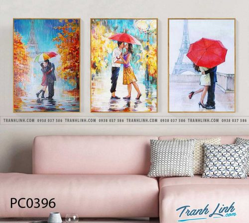 Bo tranh Canvas treo tuong trang tri phong khach phong canh PC0396
