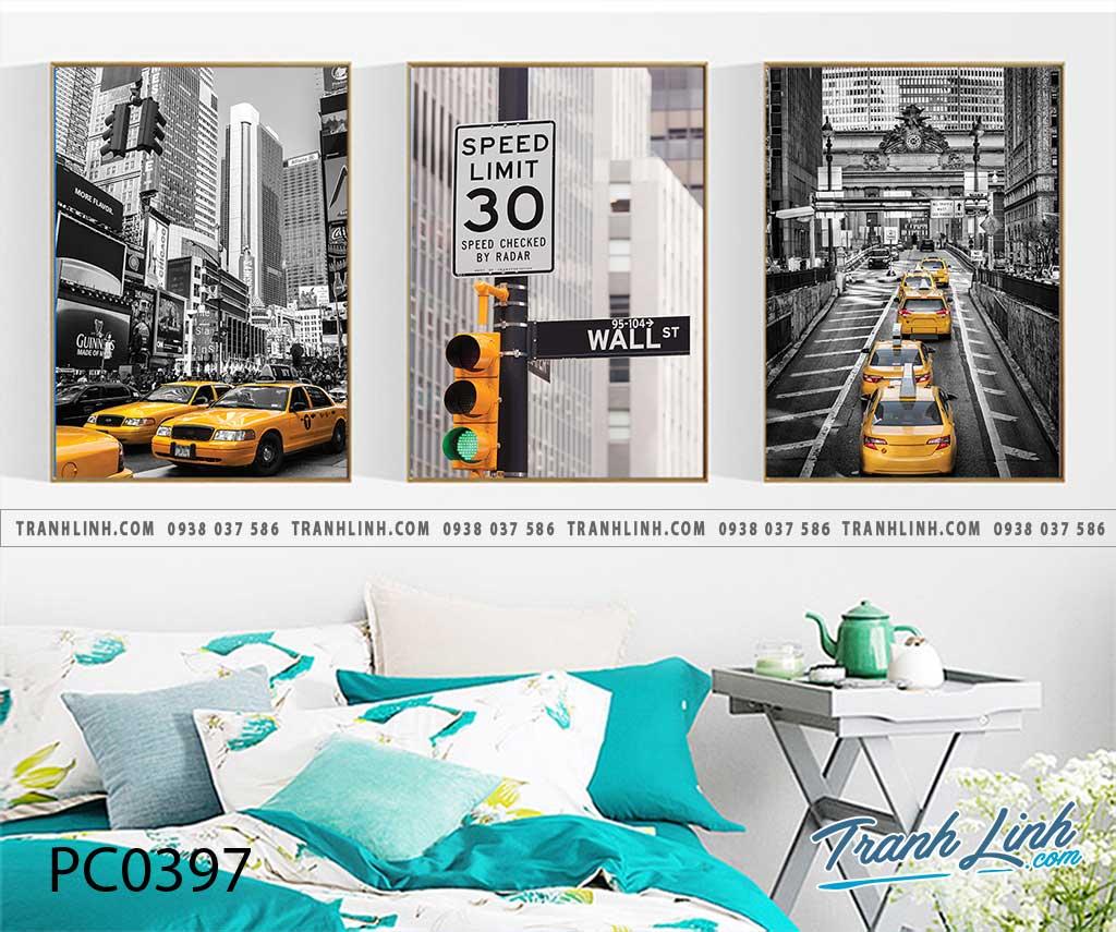 Bo tranh Canvas treo tuong trang tri phong khach phong canh PC0397