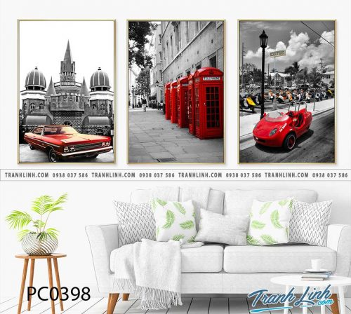 Bo tranh Canvas treo tuong trang tri phong khach phong canh PC0398