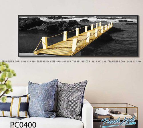 Bo tranh Canvas treo tuong trang tri phong khach phong canh PC0400