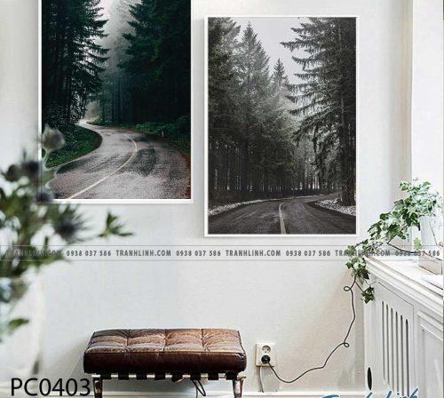 Bo tranh Canvas treo tuong trang tri phong khach phong canh PC0403