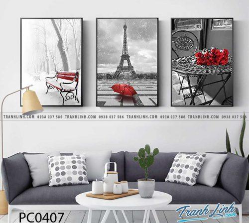 Bo tranh Canvas treo tuong trang tri phong khach phong canh PC0407