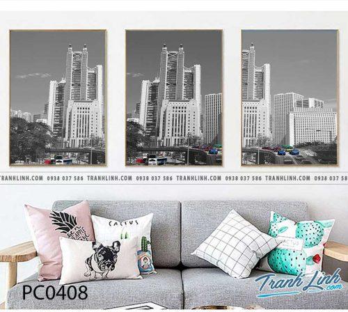 Bo tranh Canvas treo tuong trang tri phong khach phong canh PC0408